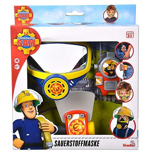 #1018 Feuerwehrmann Sam Sauerstoffmaske mit Axt und Walkie Talkie • Maske Spielzeug Feuerwehr (Für Feuerwehr-maske Kinder)