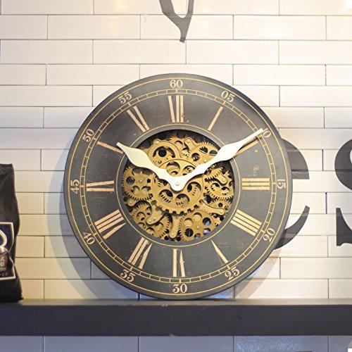 Wxin craft orologio a muro romano di stile orologio da parete in legno di antiquariato digitale craft 18 pollici