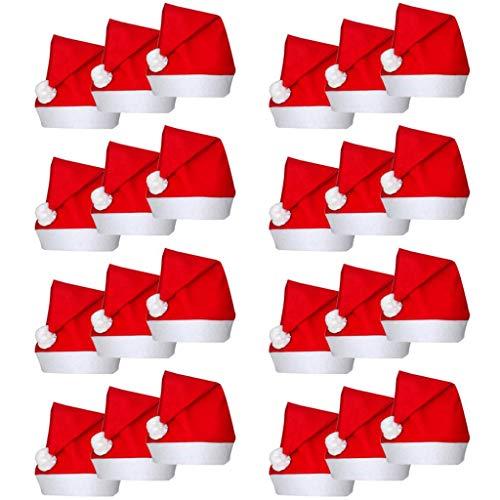 hobby e sport Set Completo 24 Pezzi Cappello da Babbo Natale