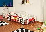 Best For Kids Autobett Junior in vier Farben mit Lattenrost und Matratze 70x140 cm Top Angebot! (Rot)