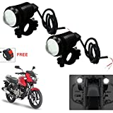 #4: Vheelocityin U1 LED Motorycle Fog Light Bike Projector Auxillary Spot Beam Light (Black, 2Pc) For Bajaj Pulsar 150