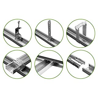 10 Stück | Trockenbauzubehör | Ankerabhänger | Verbinder | C Profil | Hexim | A18
