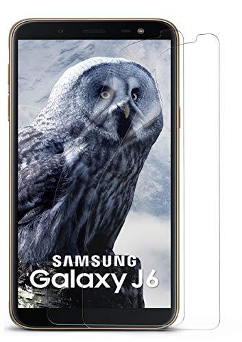 moex 2X Samsung Galaxy J6 | Schutzfolie Klar Bildschirm Schutz [Crystal-Clear] Screen Protector Display Handy-Folie Dünn Bildschirmschutz-Folie für Samsung Galaxy J6 Bildschirmfolie