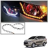 #10: Vheelocityin Custom Car Crysal DRL Daytime Running Light with Orange Audi Style moving Indicators For Toyota Innova Crysta
