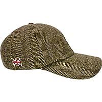 Nicky Adams Countrywear Tweed Baseball Cap Waterproof Wool Hat Green One Size Country Hunting Shooting