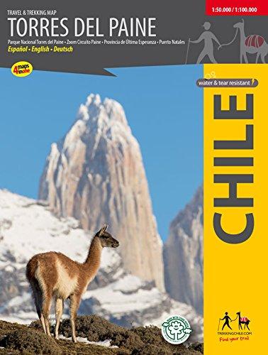 Torres del Paine - Wanderkarte por Trekkingchile