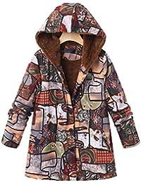 Bellelove Manteau à capuchon pour femme Taille plus large à manches longues  en coton à manches 8dc6b05ae40c