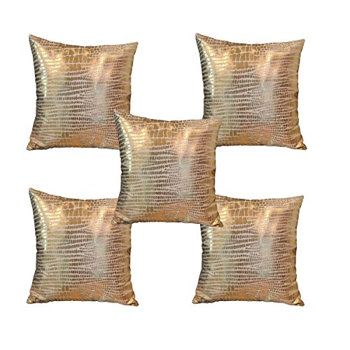 Lushomes Gold Foil Printed Cushion Covers Size 16