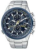 Citizen Herren-Armbanduhr Analog Quarz, Funk One Size, blau, silber