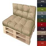 Pillows24 Palettenkissen 2-teiliges Set | Palettenauflage Polster für Europaletten | Hochwertige Palettenpolster | Palettensofa Indoor & Outdoor | Erhältlich Made in EU