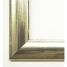 Plata marcos de cuadros augsburgo Praga 3.5 - 20 x 50/20 x 50 cm - 4 niveles de acabado se puede elegir, vidrio, plata, 20 x 50 cm