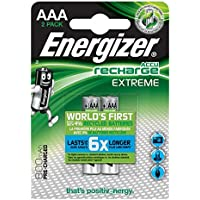 Energizer ACCU Recharge Extreme Ni-MH AAA Batteries 800mAh 2 Pack
