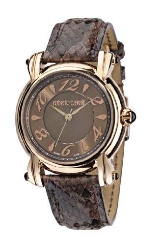 Roberto Cavalli - R7251172555 - Montre Femme - Quartz - Analogique - Bracelet cuir Marron