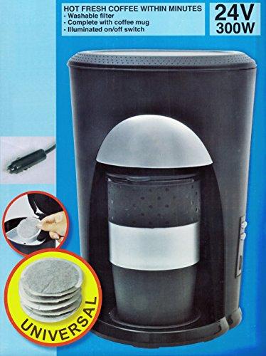 Preisvergleich Produktbild KAFFEEMASCHINE für 1 Tasse 24V / 300W Padmaschine Kaffee Pad Becher LKW Caravan 57