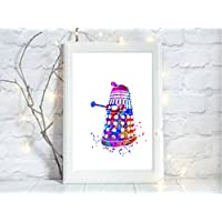 dr who dalek a4 glossy print poster UNFRAMED picture nursery gift