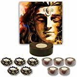 TYYC Home Decorative Candle Holders Diwali Gift Items Meditating Lord Shiva Tea Light Holder- Set Of 11