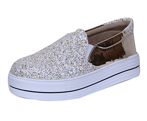 Indiweaves Womens Fashionable & Stylish Party Wear Casual and Formal Shoe, Sneaker-(87300-101) Size: 7