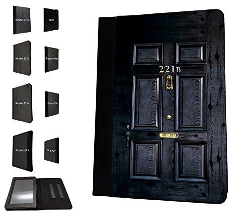 Preisvergleich Produktbild 1564 - Sherlock Door Design Amazon Kindle Fire Fire HD 6'' 4TH Generation 2014/2015 Fashion Trend TPU Leder Brieftasche Hülle Flip Cover Book Wallet Stand halter Case