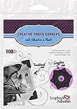"Black Classic Style Paper Photo Corners .5"" Self Adhesive 108"