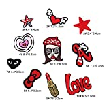 #5: iDream Iron on patches, Assorted Size Iron Embroidery Appliqué Decoration DIY Patch for Jeans Clothing etc (Theme D)