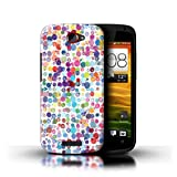 Stuff4 Hülle / Case für HTC One S / Bunte Punkte Muster / Wintermode Kollektion