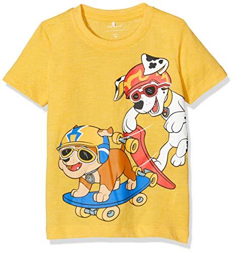 NAME IT Baby-Jungen NMMPAWPATROL Zane SS TOP LIC T-Shirt, Gelb (Daffodil Detail: Melange), (Herstellergröße: 98)