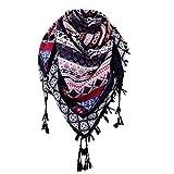TianWlio Frauen Schals Frauen Neue Mode Frauen Winter Herbst Floral Schal gedruckt Quaste Schal Schal