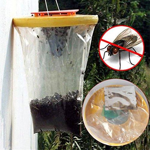 "grundschnäpper Top Catcher. xshuai® Rot Drosophila Fliegenfalle Top Catcher die ultimative Fly Catcher Insekten Bug Werkzeug Telescopic After: 73.5cm/ 28.9"" gelb"