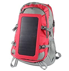 Solar Backpack with Battery Charging 5000mAh Rechargeable Battery Power Bank from Global Care Market