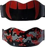 Soldier Sports Mundschutz Vampir, 2 Stück, rot/schwarz, Einheitsgröße