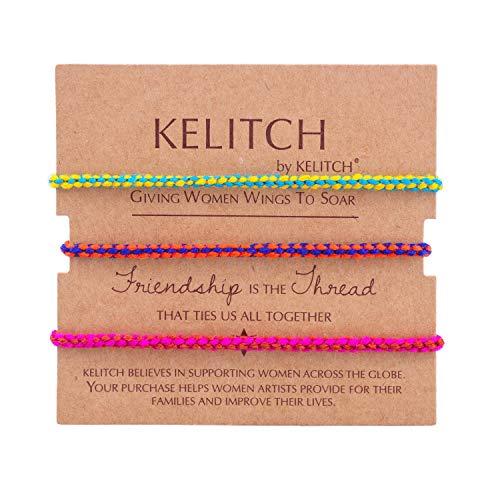 amen Herren Paare Mehrfarben Baumwolle Thread Handmade 3 Stück Freundschaft Armreif Charme Armbänder Mädchen Armband Männer (H) ()