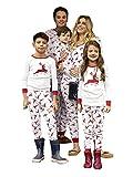 Carolilly Familie Schlafanzug Pyjama Weihnachten Baby Kinder Mama Papa Xmas Rentier Hausanzug (XL, Papa)
