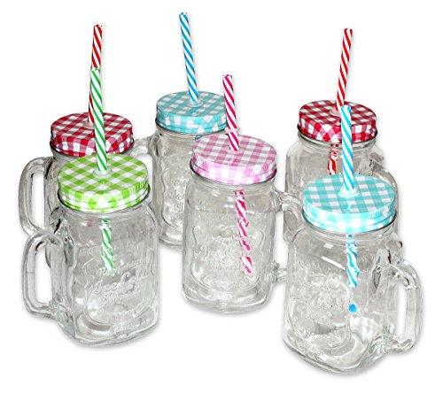 Conjunto de 6 Vasos de vidrio con asa