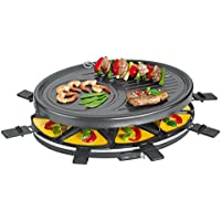 Clatronic RG 3517 Raclette Grill para 8 Personas, 1400 W, W