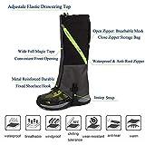 2win2buy Outdoor Wasserdicht Gamaschen, Atmungsaktiv Bein Schutz Legging Gaiter, gegen Anti Staub Schlamm Schnee zum Wandern, Klettern und Schneewandern Vergleich
