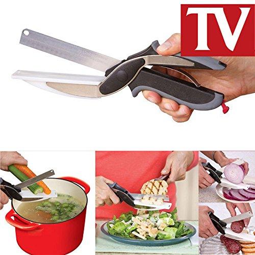 Di alta qualità 2-in-1 clever cutter,cutting board forbici as seen on tv, food chopper coltelli da cucina e taglieri complex