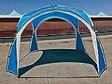 91735BL - Tenda Gazebo Agata BLU 3.5x3.5x2.3 Tenda da Spiaggia - Porta con te la tua Vacanza! Parasole Capanna Anti UV Riparo Ideale per la Spiaggia. Gazebo da Esterno per 8. Tende Portatili Capanne Ideali per Famiglia, bambini & animali