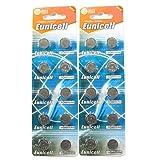 20 Eunicell pilas botón alcalina AG13 / LR44 / 357 1,5 V 0% mercurio, largo duracion (fecha de...