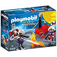 Playmobil City Action 9468 Firefighters with Water Pump for Children Ages 5+