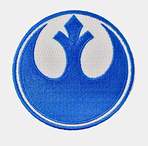 Ups Uniform Kostüm - Super6props Star Wars Rebel Alliance Blue Squadron gesticktes Eisen auf Patch Crew Uniform Patch für Cosplay, Kostüm und Kostüm 75mm