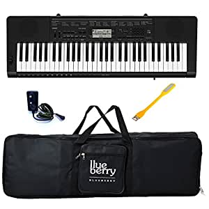 Casio CTK-3500 Standard Keyboard-61 Keys With Adapter & Blueberry Bag Along With One Blueberry USB LED