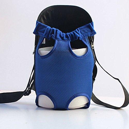 Pet-Rucksack Hund Beine zurück Hund Kit Sommer Hund Bao Gou praktische Brust Pack-Out Paket, Tage der Blauen. , Xl Geeignet für 11~18 Pfund Pet