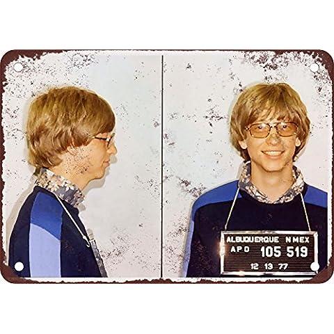1977Bill Gates Mug Shot nel nuovo Messico Look Vintage Riproduzione