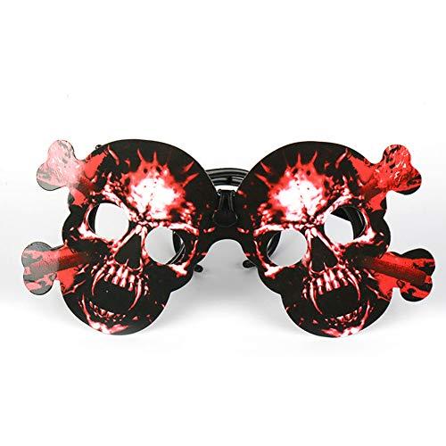 Wudi Brillen Brillen - Halloween Zubehör Karten Kit Halloween-Schädel-rote Partei Photo Booth Zubehör
