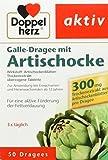 Doppelherz Galle-Dragee mit Artischocke – Für die aktive Förderung der Fettverdauung – Pflanzliches Arzneimittel aus Artischockenblättern – 1 x 50 Dragees