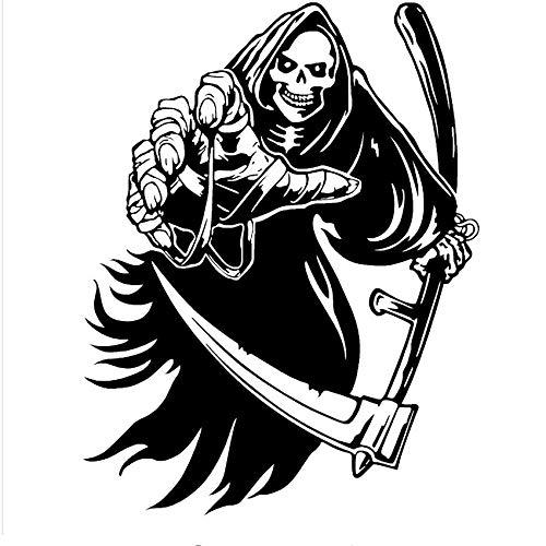 FUZILV Wandaufkleber DIYDie Sensenmann Tod Skeleton Wandaufkleber Dekoration Für Vinyl Halloween Wohnzimmer Party Dekoration 90X118 cm (Halloween Sensenmann Dekoration)