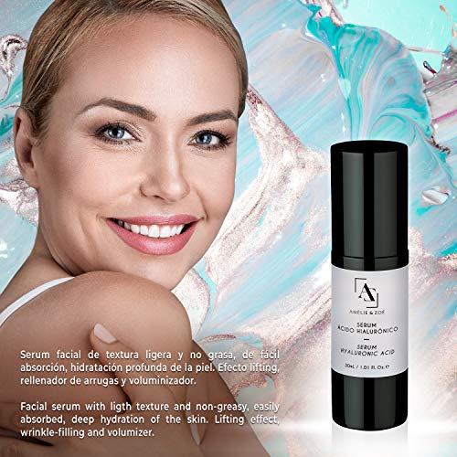 Serum facial con ácido hialurónico para efecto lifting -  Potente antiarrugas que aporta elasticidad e hidratación a la piel para combatir los efectos de la edad -  Textura ligera y de fácil absorción