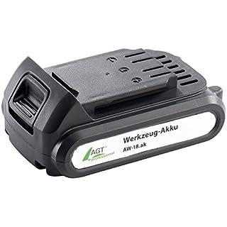 AGT Professional Zubehör zu Akku Werkzeug Zubehör: Li-Ion-Werkzeug-Akku AW-18.ak, 18 V/1300 mAh (Werkzeug Ersatzakku)