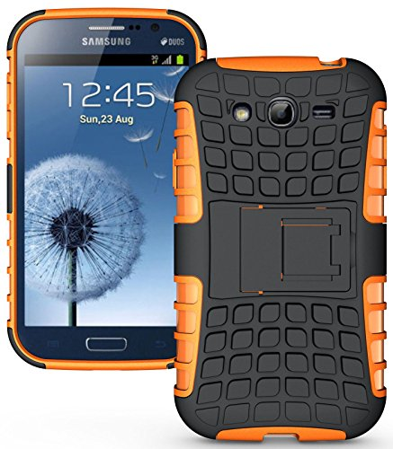 Heartly Flip Kick Stand Hard Dual Armor Hybrid Rugged Bumper Back Case Cover For Samsung Galaxy S3 S 3 i9300 - Orange  available at amazon for Rs.380