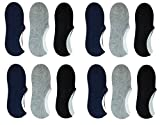 #7: Krystle Quality 100% Cotton Loafer Socks,Ankle Socks For Men and Women (12 Pairs)